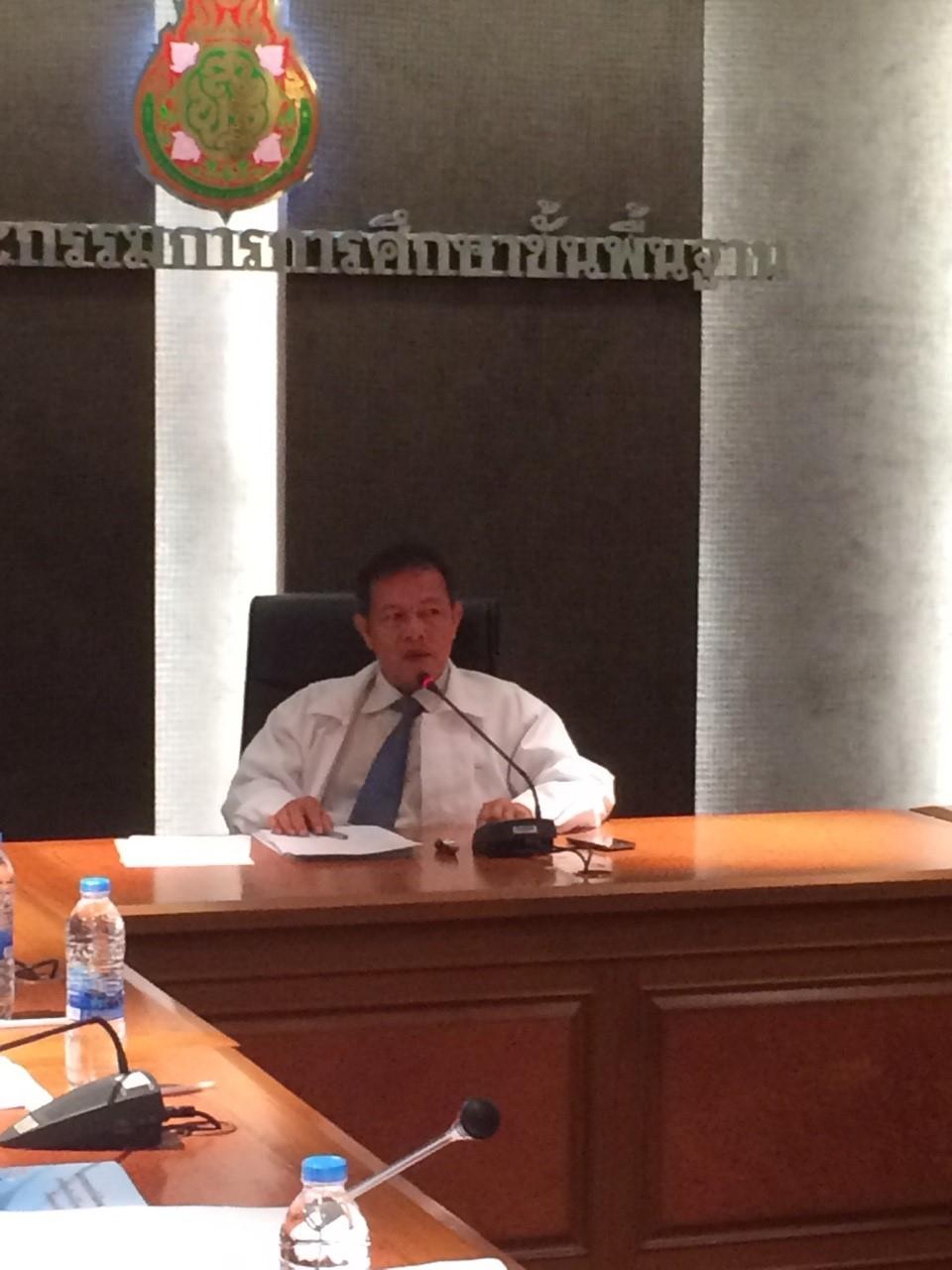 การประชุมเชิงปฏิบัติการ คณะทำงานดำเนินโครงการตามพระราชบัญญัติการอำนวยความสะดวกในการพิจารณาอนุญาตของทางราชการ พ.ศ.2558 ระดับ สพป. สพม. และสถานศึกษา ครั้งที่ 1 วันที่ 3-5 มิถุนายน 2558 ณ ห้องประชุม สพฐ.2 อาคาร สพฐ.5 ชั้น 9